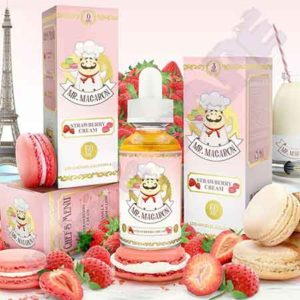Mr Macaron Strawberry Cream 3x 10ml